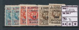 LITHUANIA MEMEL YVERT 107/112 MINT NO GUM - Lituanie