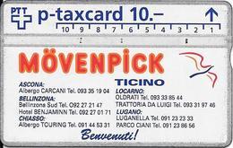 Switzerland: PTT KP-93/143 329L Mövenpick Ticino - Svizzera