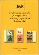 Auflösung Lagerbestand Bernhard Lösel Aukionskatalog J&K 2019 - Auktionskataloge