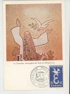 TIMBRES - EUROPA - Carte Premier Jour EXPOSITION PHILATELIQUE PARIS 13/9/1958 - DIJON - Sanctuaire Du Sacré Coeur - - Europa-CEPT