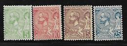 Monaco 1901 Yvert 22/25 Neufs** MNH (AA156) - Ungebraucht