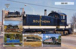 Locomotives  -  EMD SW1  -  5v Feuillet Mint/Neuf/MNH Imperf/Non Dentelé - Trains