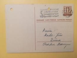 1946 INTERO CARTOLINA POSTCARDS SVIZZERA ANNULLO LUZERN HELVETIA SUISSE POSTKARTE CARTE POSTALE ETICHETTA - Interi Postali