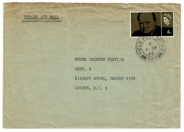 Ref 1332 - 1965 GB Military Cover - Field Post Office FPO 223 - BMH Munster BFPO 17 Germany - 1952-.... (Elizabeth II)