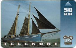 Faroe - Faroese Telecom (Magnetic) - Shiptype Nordlyset - 50Kr. - 20.000ex, Used - Faroe Islands