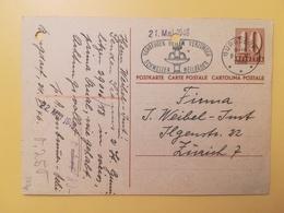 1946 INTERO CARTOLINA POSTCARDS SVIZZERA ANNULLO BURGDORF HELVETIA SUISSE POSTKARTE CARTE POSTALE ETICHETTA - Interi Postali