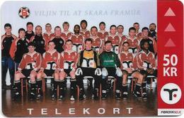 Faroe - Football Team - 50Kr. 3.000ex, Used - Faroe Islands