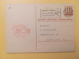 1946 INTERO CARTOLINA POSTCARDS SVIZZERA ANNULLO NEUCHATEL HELVETIA SUISSE POSTKARTE CARTE POSTALE ETICHETTA - Interi Postali