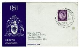 Ref 1332 - 1959 GB Cover - RSH Health Congrress Harrogate Yorkshire - 1952-.... (Elizabeth II)