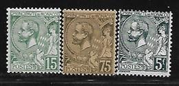 Monaco 1920/21 Yvert 44 - 45 - 47 Neufs** MNH (AA156) - Ongebruikt