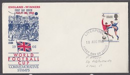 GB 1966 England Winners FDC Liverpool CDS - FDC
