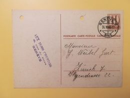 1946 INTERO CARTOLINA POSTCARDS SVIZZERA ANNULLO GENEVE HELVETIA SUISSE POSTKARTE CARTE POSTALE - Interi Postali