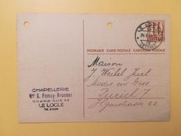 1946 INTERO CARTOLINA POSTCARDS SVIZZERA ANNULLO LE LOCLE HELVETIA SUISSE POSTKARTE CARTE POSTALE - Interi Postali