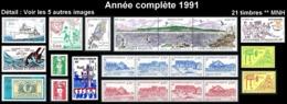 ST-PIERRE ET MIQUELON Année Complète 1991 - Yv. 534 à 554 ** MNH  Faciale= 9,47 EUR - 21 Timbres  ..Réf.SPM11747 - St.Pierre & Miquelon