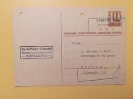 1946 INTERO CARTOLINA POSTCARDS SVIZZERA ANNULLO KERZERS HELVETIA SUISSE POSTKARTE CARTE POSTALE - Interi Postali