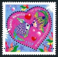 NOUV.-CALEDONIE 2012 - Yv. 1141 **   Faciale= 0,92 EUR - Saint-Valentin Poissons Dans Un Cœur  ..Réf.NCE25693 - Nieuw-Caledonië