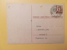 1946 INTERO CARTOLINA POSTCARDS SVIZZERA ANNULLO RHEINFELDEN HELVETIA SUISSE POSTKARTE CARTE POSTALE - Interi Postali