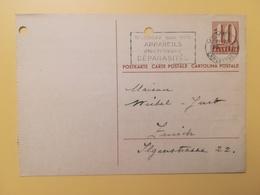 1946 INTERO CARTOLINA POSTCARDS SVIZZERA ANNULLO VEVEY HELVETIA SUISSE POSTKARTE CARTE POSTALE ETICHETTA - Interi Postali