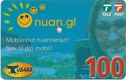 Greenland - Tusass - Nuan.gl, GSM Refill, 100kr. Exp. 16.10.2010, Used - Groenlandia
