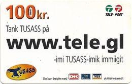 Greenland - Tusass - Www.tele.gl, GSM Refill, 100kr. Exp. 16.04.2011, Used - Groenlandia