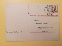 1946 INTERO CARTOLINA POSTCARDS SVIZZERA ANNULLO SPIEZ HELVETIA SUISSE POSTKARTE CARTE POSTALE - Interi Postali