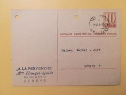 1946 INTERO CARTOLINA POSTCARDS SVIZZERA ANNULLO  HELVETIA SUISSE POSTKARTE CARTE POSTALE - Interi Postali