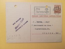 1947 INTERO CARTOLINA POSTCARDS SVIZZERA ANNULLO LAUSANNE HELVETIA SUISSE POSTKARTE CARTE POSTALE ETICHETTA - Interi Postali