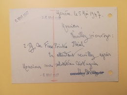 1947 INTERO CARTOLINA POSTCARDS SVIZZERA ANNULLO  HELVETIA SUISSE POSTKARTE CARTE POSTALE ETICHETTA - Interi Postali