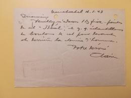 1947 INTERO CARTOLINA POSTCARDS SVIZZERA ANNULLO NEUCHATEL HELVETIA SUISSE POSTKARTE CARTE POSTALE ETICHETTA - Interi Postali