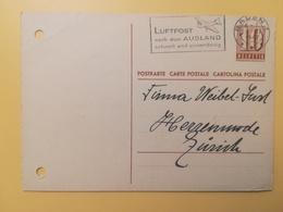 1947 INTERO CARTOLINA POSTCARDS SVIZZERA ANNULLO BADEN HELVETIA SUISSE POSTKARTE CARTE POSTALE ETICHETTA - Interi Postali