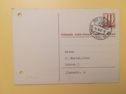 1947 INTERO CARTOLINA POSTCARDS SVIZZERA ANNULLO RHEINFELDEN HELVETIA SUISSE POSTKARTE CARTE POSTALE ETICHETTA - Interi Postali
