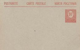 POLOGNE : Entier Neuf 10 Pfenning Commission De Gouvernement Haute Silésie 1920 - Schlesien (Ober- Und Nieder-)