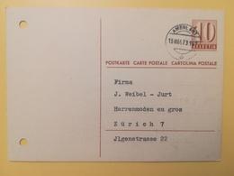 1947 INTERO CARTOLINA POSTCARDS SVIZZERA ANNULLO AMBULANT HELVETIA SUISSE POSTKARTE CARTE POSTALE - Interi Postali