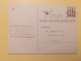1947 INTERO CARTOLINA POSTCARDS SVIZZERA ANNULLO GENEVE HELVETIA SUISSE POSTKARTE CARTE POSTALE ETICHETTA - Interi Postali