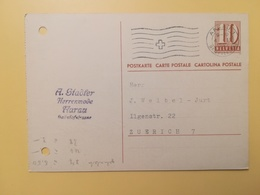 1947 INTERO CARTOLINA POSTCARDS SVIZZERA ANNULLO AARAU HELVETIA SUISSE POSTKARTE CARTE POSTALE ETICHETTA - Interi Postali