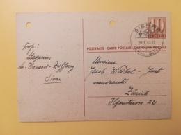 1948 INTERO CARTOLINA POSTCARDS SVIZZERA ANNULLO SIERRE HELVETIA SUISSE POSTKARTE CARTE POSTALE - Interi Postali