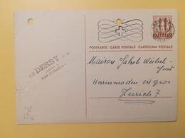 1948 INTERO CARTOLINA POSTCARDS SVIZZERA ANNULLO LAUSANNE HELVETIA SUISSE POSTKARTE CARTE POSTALE ETICHETTA - Interi Postali