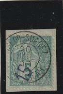 Diego-Suarez N° 2 Oblitéré Signé Calves Sur Fragment - Diego-suarez (1890-1898)