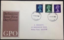 """Great Britain, Circulated FDC, """"British Monarchy"""", """"Queen Elisabeth II"""", Leicester, 1967 - 1952-.... (Elizabeth II)"""