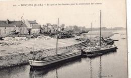 MONTJEAN-SUR-LOIRE LE QUAI ET LES CHANTIERS POUR LA CONSTRUCTION DES BATEAUX - Autres Communes