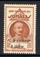 "COTE DES SOMALIS - N° 228(*) - LÉONCE LAGARDE ""FRANCE LIBRE"" - Unused Stamps"