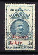 """COTE DES SOMALIS - N° 222* - LÉONCE LAGARDE """"FRANCE LIBRE"""" - Côte Française Des Somalis (1894-1967)"""