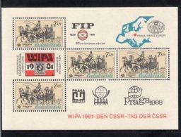 Cecoslovacchia 1981 -- WIPA 1981 --   **MNH - Blocchi & Foglietti