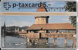 Switzerland: PTT KP-93/161 329L Philswiss - Luzern, Kapellbrücke - Svizzera