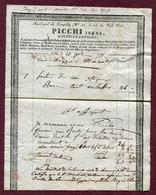 """PARIS (1833) : """" SCULPTEUR - FIGURISTE Boulevard Du Temple N° 33 - PICCHI Jeune """" - France"""