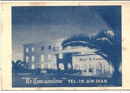 HOTEL LE COMMANDEUR . AIN DIAB - Advertising