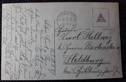 DR 1921, Postkarte BITTERFELD Gelaufen - Germany