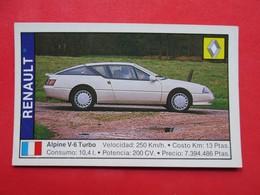 Trading Card (Cromo) - Renault Alpine V6 Turbo - Nº 145 - Col. Coches 89 - Ed. Cusco 1988 - (Spain) / France - Cars