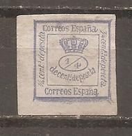 España/Spain-(usado) - Edifil  115 (1/4) - Yvert 129a (o) - 1872-73 Reino: Amadeo I