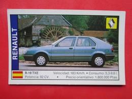 Trading Card (Cromo) - Renault R-19 TXE - Nº 141 - Col. Coches 89 - Ed. Cusco 1988 - (Spain) / France - Automobili